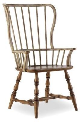 Hooker Furniture Sanctuary Windsor Back Arm chair (Set of 2 Finish: Drift / Dune