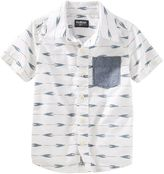 Osh Kosh Boys 4-8 Arrow Short-Sleeved Poplin Shirt