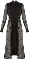 Diane von Furstenberg Polka-dot and leaf-print stretch-silk dress