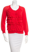 3.1 Phillip Lim Ruffle-Accented Button-Up Cardigan
