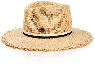 Maison Michel Andre Frayed Crochet Straw Hat