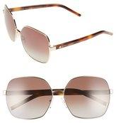 Marc Jacobs 61mm Polarized Oversized Sunglasses