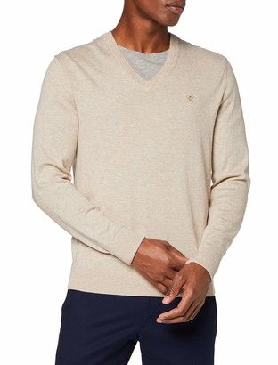 Hackett London Men's Cott/Merino V Neck Jumper