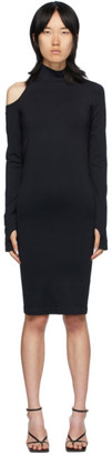 Helmut Lang Black Cutout Dress