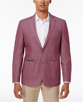 Tallia Men's Big and Tall Slim-Fit Red/Gray Seersucker Sport Coat