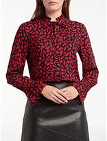 Gerry Weber Long Sleeve Printed Shirt, Black/Red