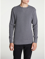 Edwin Waffle Long Sleeve T-shirt, Dark Grey Heather