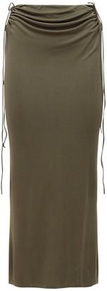 Dion Lee Viscose & Silk Wire Jersey Skirt
