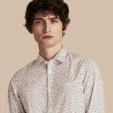 Burberry Painterly Spot Print Cotton Shirt