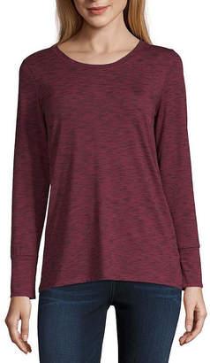 A.N.A Womens Round Neck Long Sleeve T-Shirt
