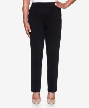 Alfred Dunner Women's Plus Size Knightsbridge Station Ponte Slim Proportioned Medium Pant