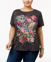 INC International Concepts Plus Size Embroidered T-Shirt, Only at Macy's