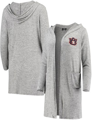 Women's Heathered Gray Auburn Tigers Cuddle Soft Duster Cardigan