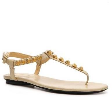 Balenciaga Leather Studded Sandal