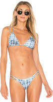 Vix Paula Hermanny Rustic Piercing Tri Top in Baby Blue. - size L (also in M,XL)
