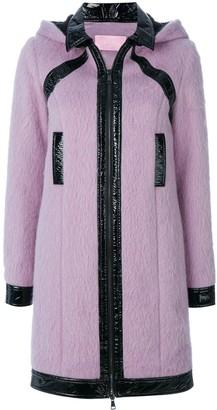 Giamba Patent Detail Hooded Coat