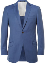 Richard James Blue Slim-Fit Mélange Wool Suit Jacket