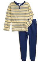 Splendid Boy's Stripe Henley Top & Sweatpants