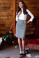 Shabby Apple B&W Igloo Skirt