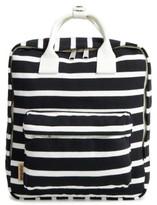 Girl's Popatu Stripe Jersey Knit Backpack - Black