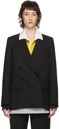 Acne Studios Black Summer Wool Double-Breasted Blazer