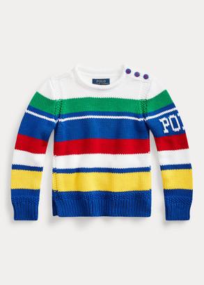 Ralph Lauren Striped Cotton-Blend Sweater