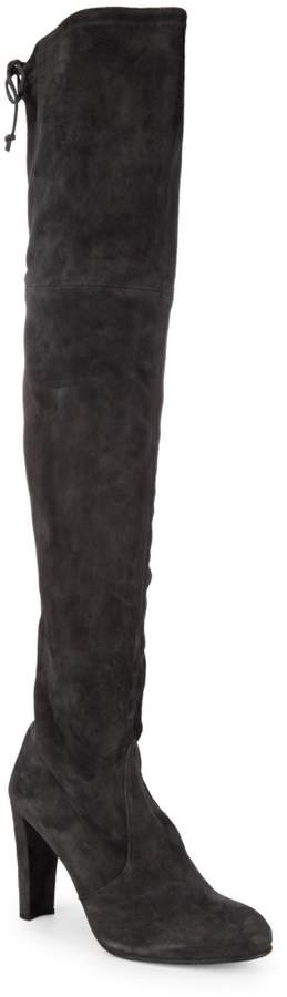 Stuart Weitzman Highland Over-The-Knee Suede Boots