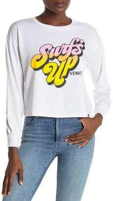 Circlex Surf's Up Graphic Crop Sweatshirt
