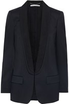 Stella McCartney Melissa Satin Twill-trimmed Wool Blazer