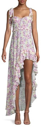 For Love & Lemons Caroline Floral High-Low Dress