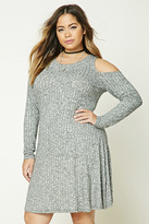 Forever 21 FOREVER 21+ Plus Size Marled Swing Dress