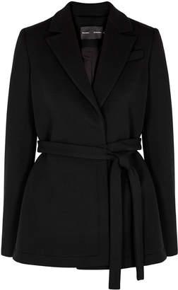 Proenza Schouler Black Jersey Wrap Jacket