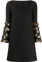 Valentino Sequin Embroidered Short Dress