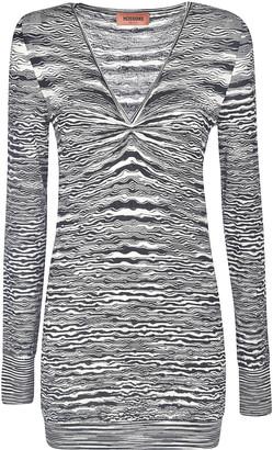 Missoni Long Sleeve V-neck Dress