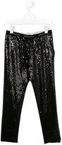 John Galliano sequin leggings - kids - viscose/Spandex/Elastane - 14 yrs