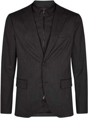 Emporio Armani Textured Blazer with Dickey Insert