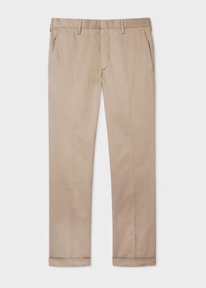 Paul Smith Men's Slim-Fit Camel Cotton Trousers