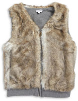 Splendid Girls 7-16 Girl's Reversible Faux Fur Vest