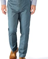Charles Tyrwhitt Airforce blue slim fit flat front non-iron chinos