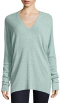 BELLE + SKY Long Sleeve V Neck Brushed Rib Tunic Top