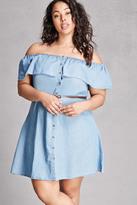 Forever 21 FOREVER 21+ Plus Size Denim Flounce Dress