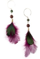 Kris Nations Stacey Feather Earrings