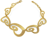 Stefano Patriarchi Etched Golden Silver Cut-Out Heart Link Bracelet