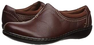 Clarks Ashland Joy (Dark Tan Leather) Women's Shoes