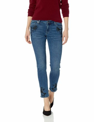 Lucky Brand Women's MID Rise Lolita Skinny Jean with Hemline Slit and Embroidery