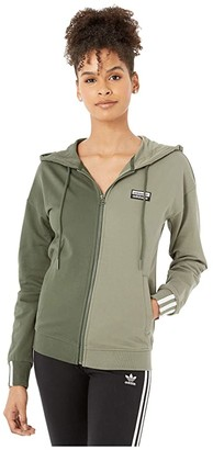 adidas RYV Hooded Track Top (Shadow Green/Legacy Green) Women's Clothing