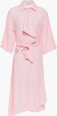 J.W.Anderson Asymmetric Draped Poplin Dress