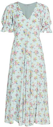 Faithfull The Brand Maggie Floral Midi Dress
