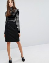 Oasis Pencil Skirt with Button Detail