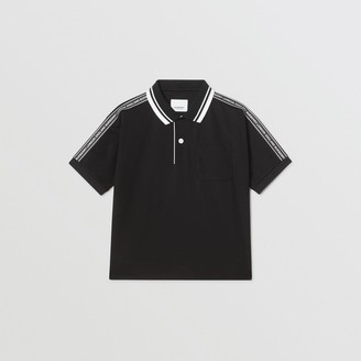 Burberry Logo Tape Cotton Polo Shirt